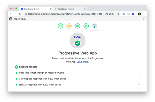 Enable PWA on Ghost blog